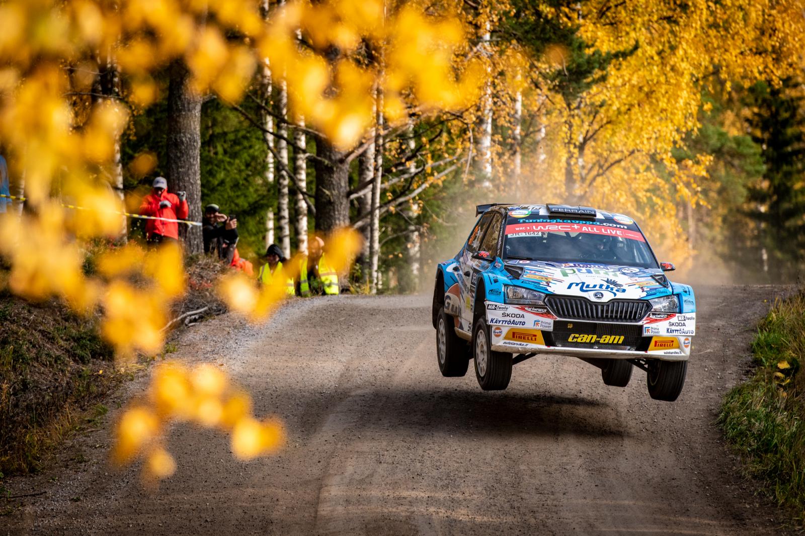 Teemu Asunmaa and Marko Salminen in WRC Rally Finland. Photo: Honza Fronek/Rally-Mania.cz.
