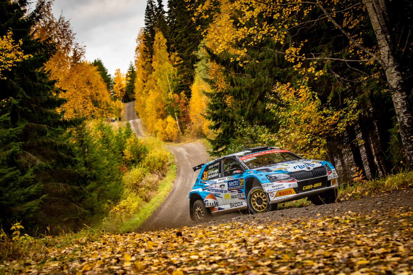Teemu Asunmaa ja Marko Salminen Secto Automotive Rally Finlandissa.Kuva: Honza Fronek/Rally-Mania.cz